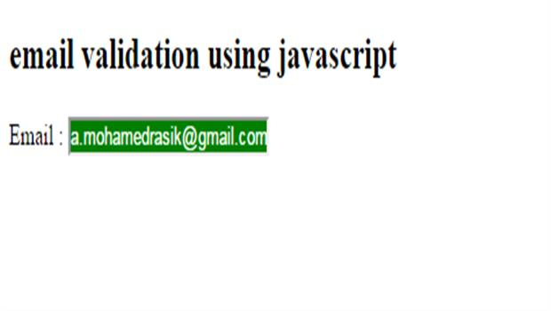 valid email validation in javascript