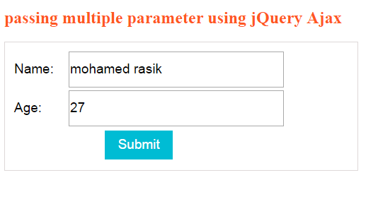 pass multiple parameters to a POST method using jQuery Ajax in asp.net MVC