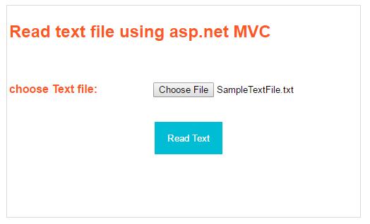 Read Text File Using Asp MVC