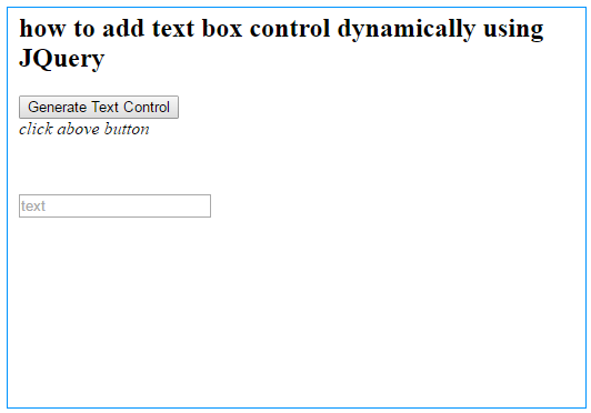 How to create textbox in jQuery?