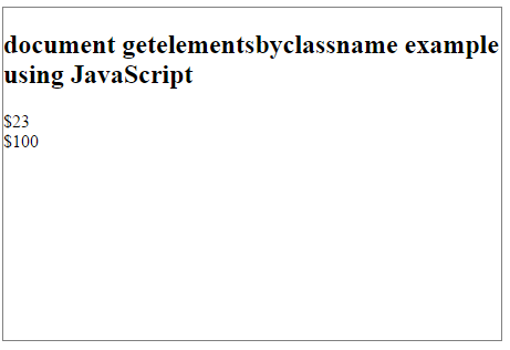 document getelementsbyclassname example