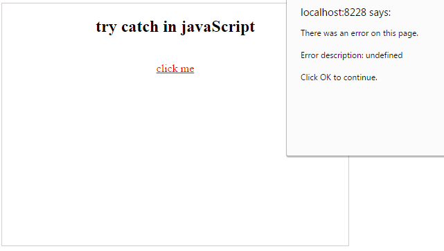 error handling in javascript try catch example