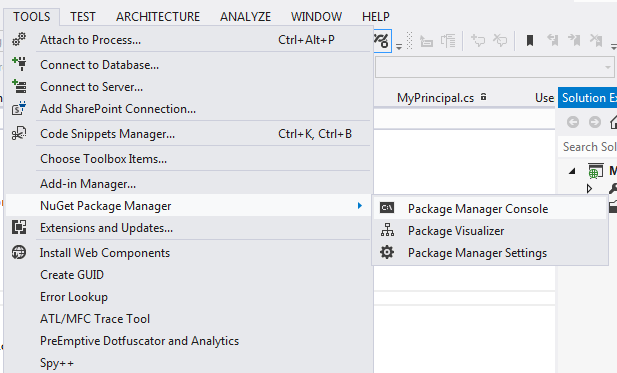 nuget package manager console install newtonsoft json 4.5