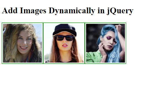 how to append element in jquery-add image dynamically