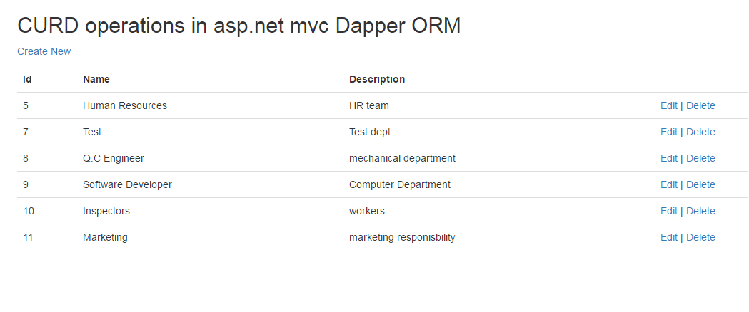 crud operations in asp net using dapper