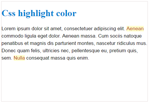 css text highlight color
