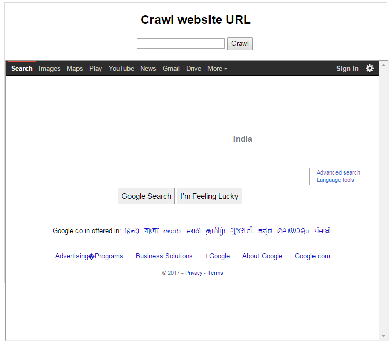website page crawler