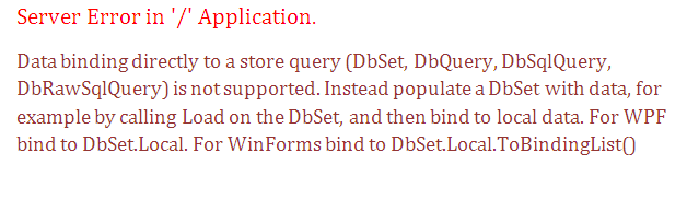Instead populate a DbSet with data, for example by calling Load on the DbSet