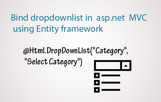 mvc populate dropdownlist from database