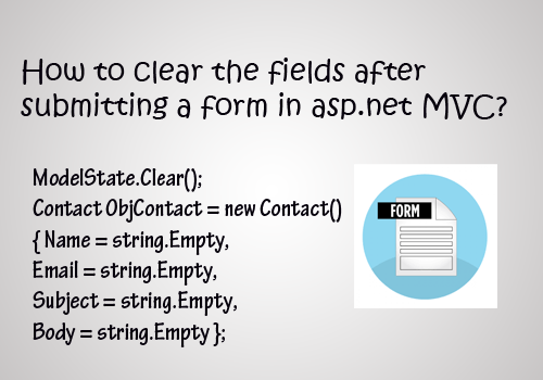 How to clear the fields after submitting a form in asp.net MVC?
