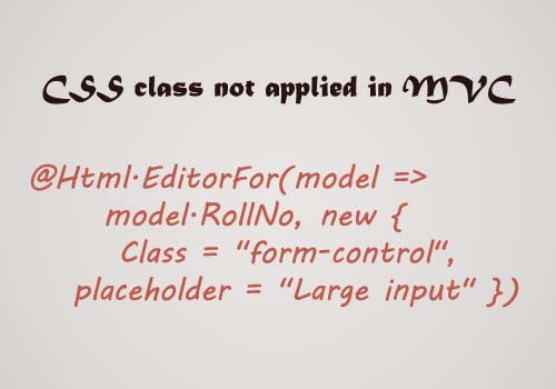 HTML.EditorFor is not suitable for the css class