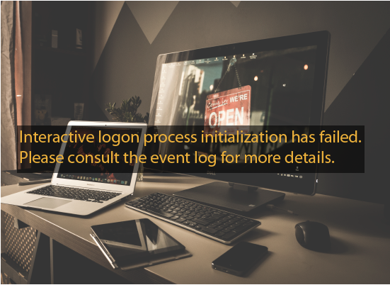 Interactive logon process initialization has failed.