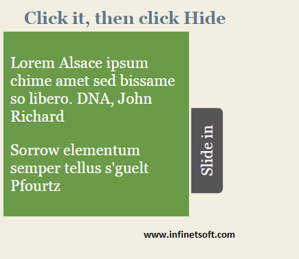 slides in and out-css3