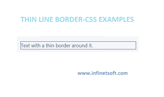 Thin line border-CSS examples