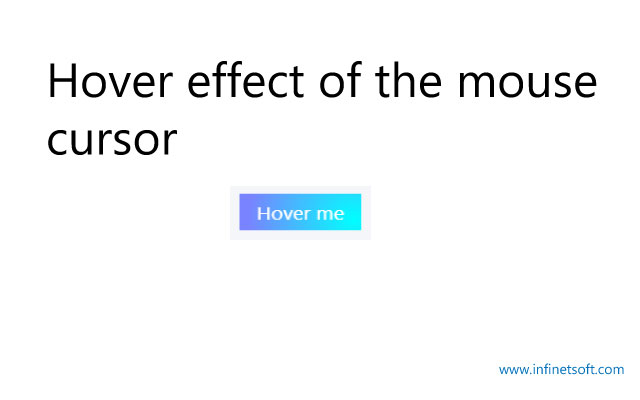 hover effect of the mouse cursor