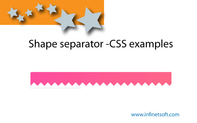 Shape separator -CSS examples