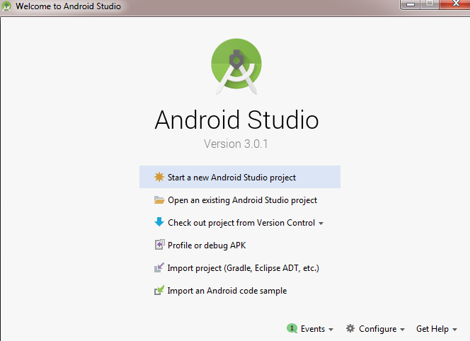 Android studio 3.0.1